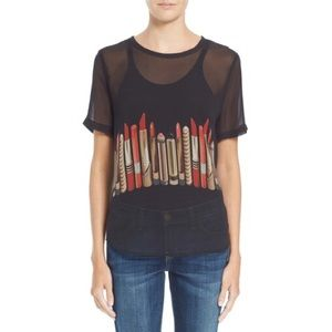 NWT Equipment Riley Tee in Lipstick Pattern